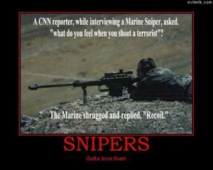 What Do Snipers Feel