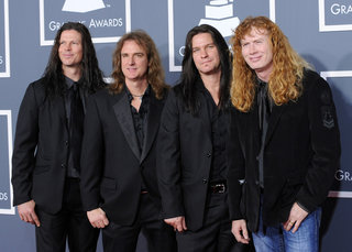 Megadeth Arrives At 53rd Annual Grammy Awards Los Angeles 375