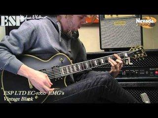 Esp Ltd Ec 1000 Vintage Black With Emg S Sam Bell Nevada Music Uk