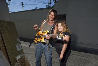 George Lynch with fan