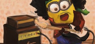Draw Minion From Despicable Me Jimi Hendrix Version