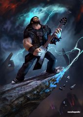 Eddie Riggs Heavy Metal Thunder And Lightning Brutal Legend Nosologeeks
