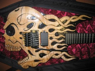 Esp Carved Skull Guitar