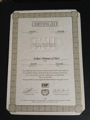 The certificate for the Eclipse
