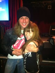 With my friend ESP guitarist JEFF GEORGE of Harlot :-)