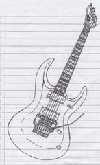 an ESP guitar model (close up)