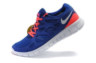 Homme Nike Free Run 2 Chaussures De Sport Vieux Royal Total Orange Blanc Ela6p1 1 22328