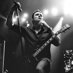Benjamin Burnley of Breaking Benjamin playing his LTD EC-1000 VB