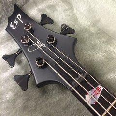 ESP Custom shop FRX bass in satin black. Made for Tom Araya of Slayer
