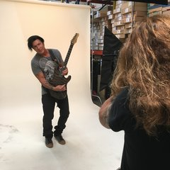 "George Lynch with 2016 LTD ""Burnt Tiger"" prototype"