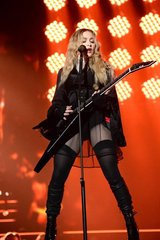 Madonna playing the E-II V-II Standard Blk