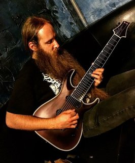 Andy Thomas (Black Crown Initiate) playing the E-II HRF NT-8B Deep Red Metallica Satin