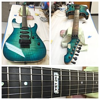 Left-Handed ESP USA Horizon-II See-Thru Aqua