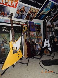 guitars in the guitar room