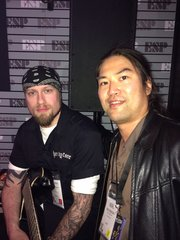 Always nice to see Andy James at the NAMM show.