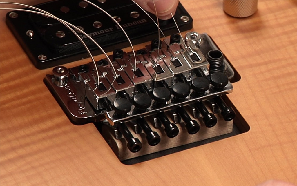restringing with a floyd rose the esp guitar company. Black Bedroom Furniture Sets. Home Design Ideas
