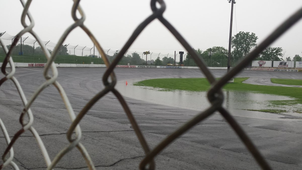 FLAT ROCK SPEEDWAY RAINED OUT
