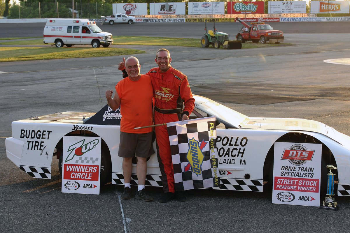 HISTORY MADE AT FLAT ROCK-GREG STUDT FIRST TO WIN 3 DIVISION TITLES