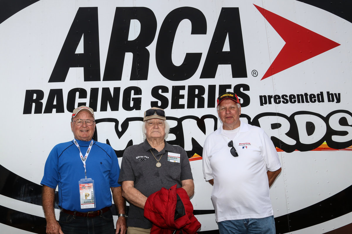 FLAT ROCK, TOLEDO LEGENDS VISIT ARCA GARAGE AT DAYTONA