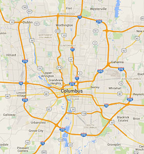 Google Map of central Ohio