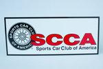 SCCA Wire Wheel Logo Decal