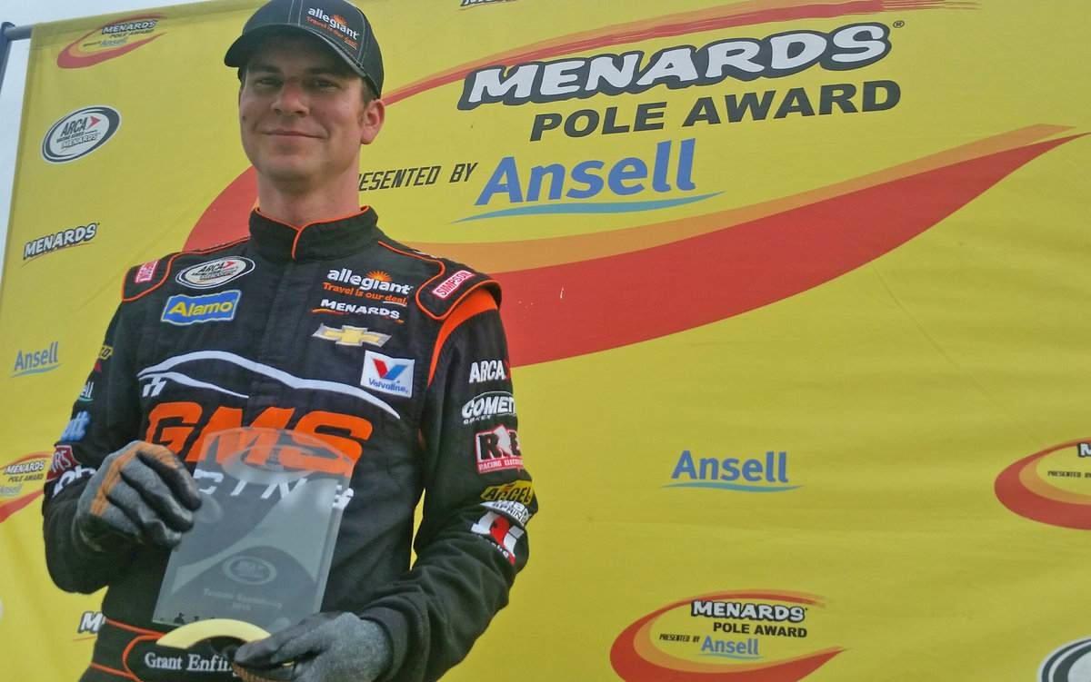 Enfinger wins Menards Pole for Menards 200 at Toledo