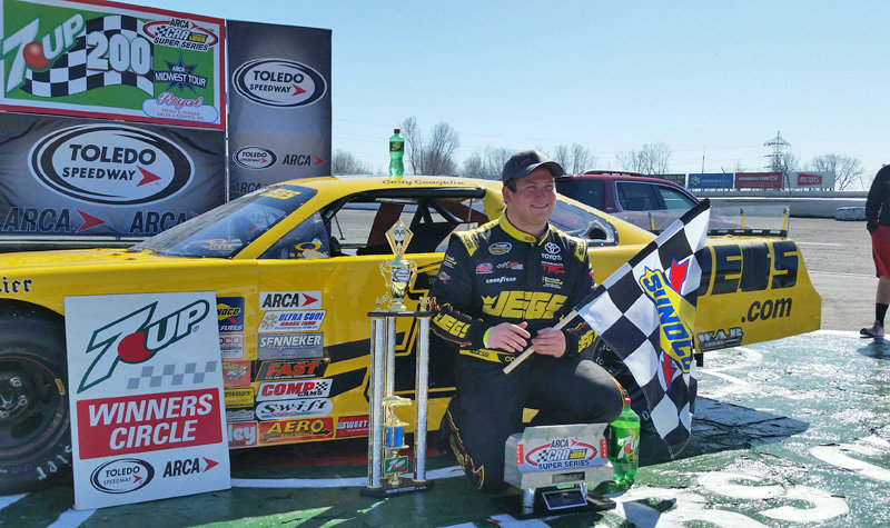 Coughlin, Needles victors in 7-UP 200 action at Toledo
