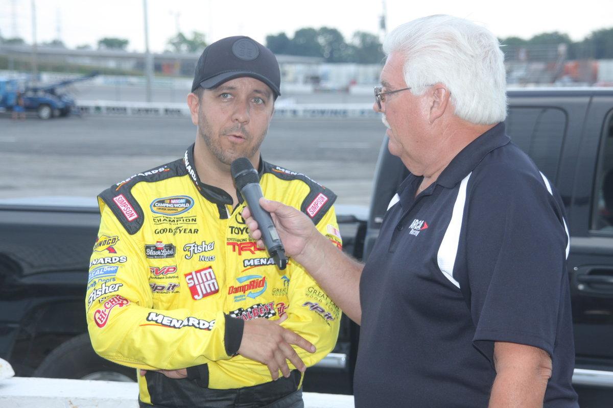 NASCAR TRUCK CHAMP MATT CRAFTON RETURNS TO TOLEDO SATURDAY FOR MILLER LITE 100