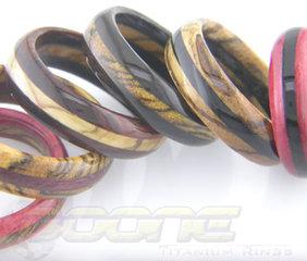 Hardwood Inlay Rings