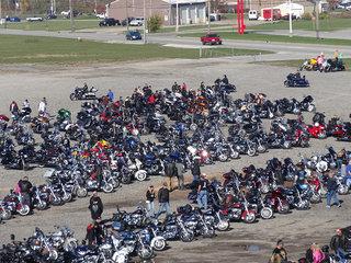 Bikers Fill The Lot