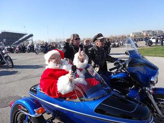 Santa In Sidecar